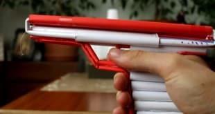 اصنع بنفسك: مسدس ورق للأطفال