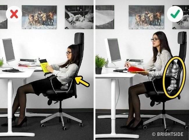 6طرق لتجنب آلام الظهر والرقبةفي العمل