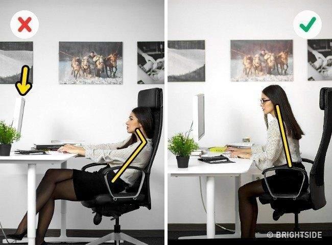 طرق لتجنب آلام الظهر والرقبةفي العمل