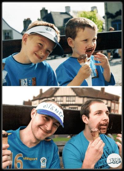 آثار الزمن وفوارق العمر في صور طريفة ومضحكة 1