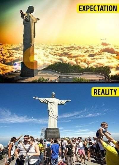 الحقيقة غير الخيال.. صور صادمة لوجهات سياحية معروفة