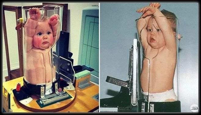 """""""طفل داخل أنبوب"""".. صورة أثارت الجدل فما حقيقتها؟"""
