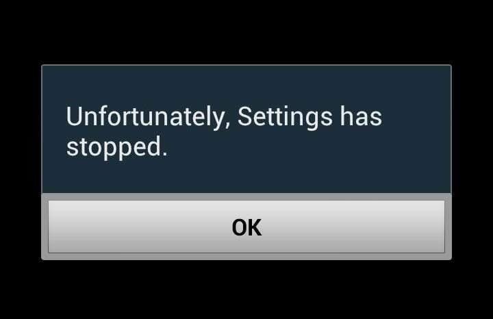 Unfortunately App Has Stopped على اندرويد