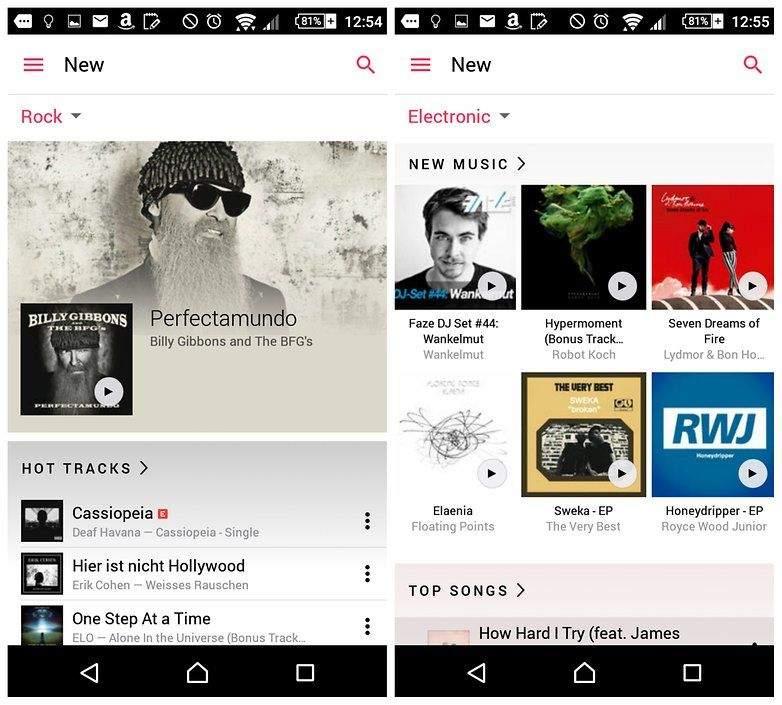 أفضل تطبيقات بث الموسيقى على أندرويد 1
