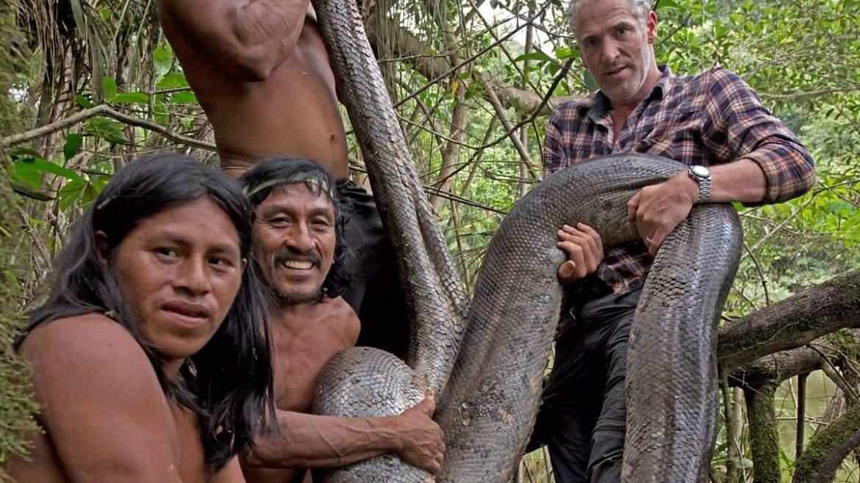 الأناكوندا الأطول والأشرس.. رحلة الإمساك بثعبان ضخم يبلغ 5 أمتار بغابات الأمازون!
