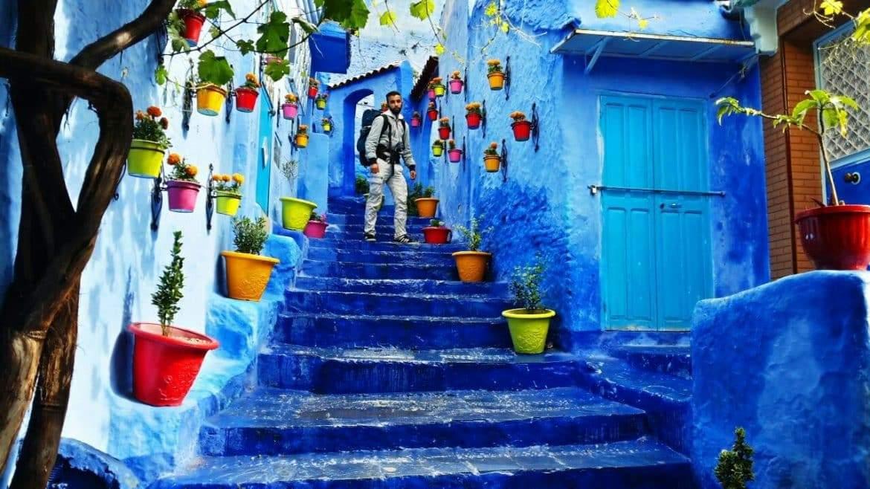 سر اللون الأزرق بمدينة شفشاون المغربية