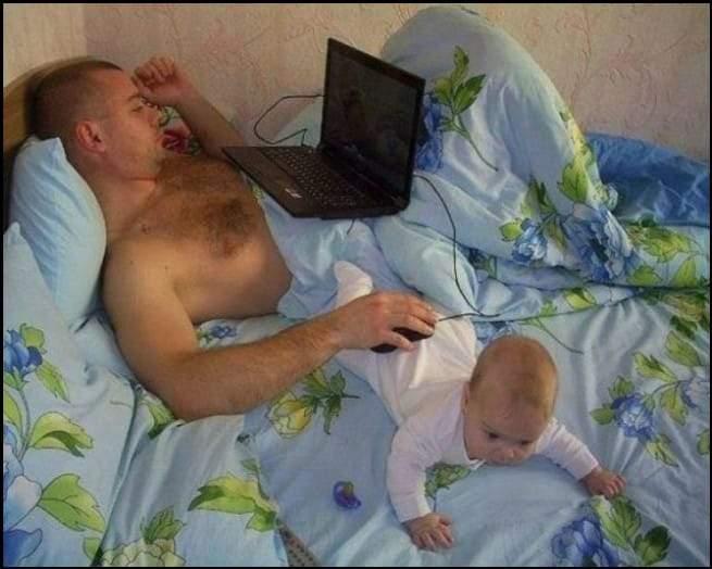 عندما يقوم الأب بدور الأم
