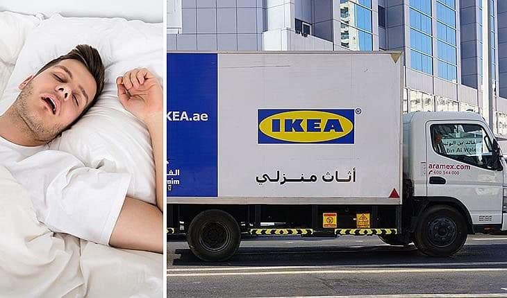 """فقط في الإمارات.. النوم في الشارع برعاية """"إيكيا"""""""