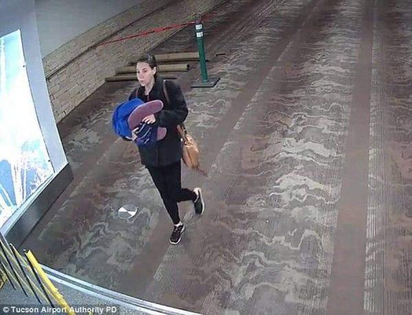 """لغز """"سيدة المطار"""" تحله كاميرات المراقبة.. والمفاجأة مروعة 1"""