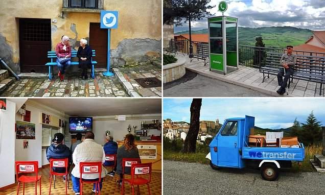 """الفن يحول قرية إيطالية مغمورة إلى """"أذكى قرية في العالم"""""""
