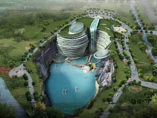 """""""فندق الهوة العميقة"""".. صنع في الصين! 5"""