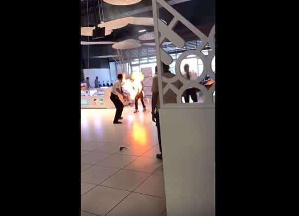 حقيقة انفجار هاتف محمول في دبي مول