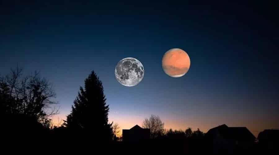 قمران في السماء واقتراب المريخ في 27 أغسطس.. فأين الحقيقة؟