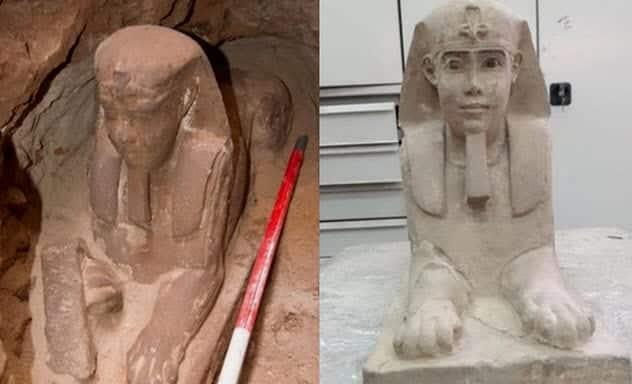 أبو الهول جديد.. وآثار فرعونية غامضة اكتشفت في 2018!