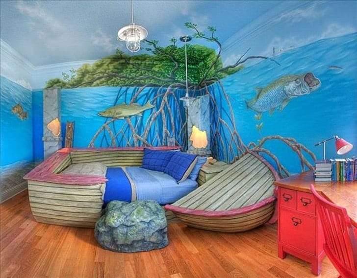 غرف نوم أطفال ذات تصميمات مذهلة
