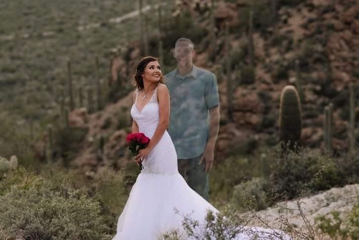 فتاة تهز مشاعر الجميع وتنشر صور تخيلية ليوم زفافها برغم موت خطيبها قبل الزفاف