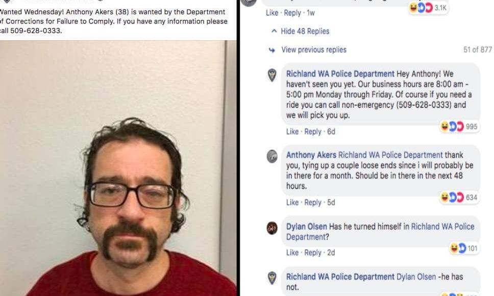 المطلوب الأغرب للعدالة.. تجاوب مع الشرطة عبر فيسبوك وأضحك الجميع بوعوده الطريفة