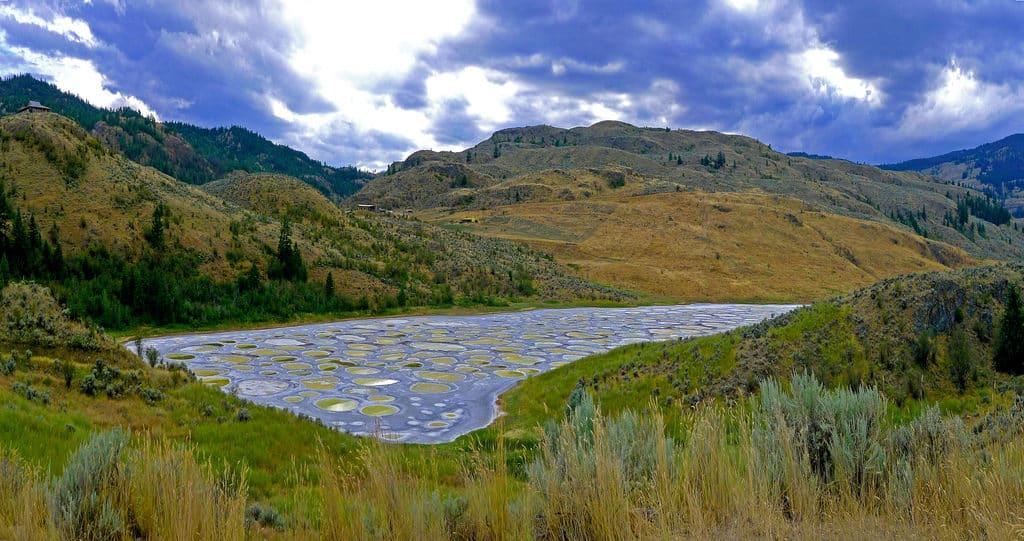 """""""البحيرة المرقطة"""".. رسم الطبيعة الفني على لوحات المياه!"""