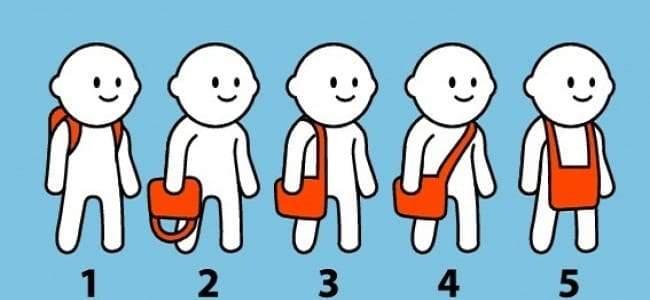 5 طرق لحمل الحقيبة تكشف طبيعة شخصيتك
