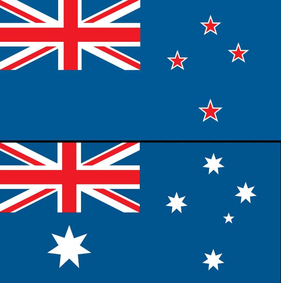 أستراليا ونيوزيلاندا.. أشهر أعلام الدول المتشابهة