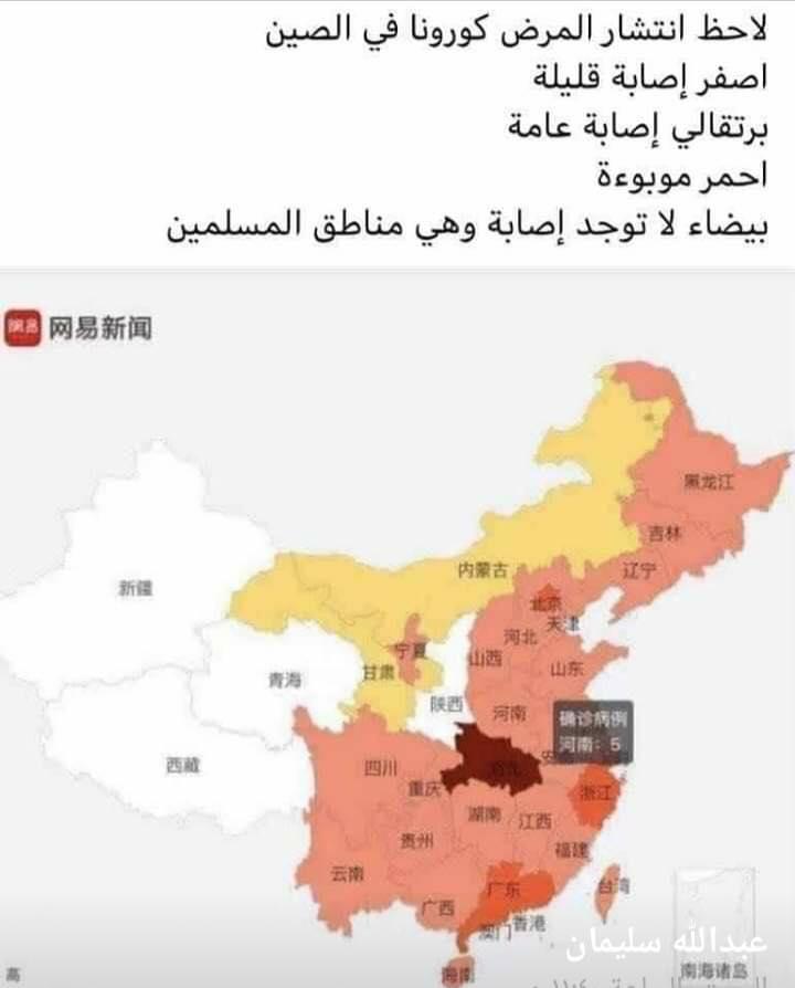 فيروس كورونا لا يصيب مناطق المسلمين في الصين.. حقيقة أم فبركة؟